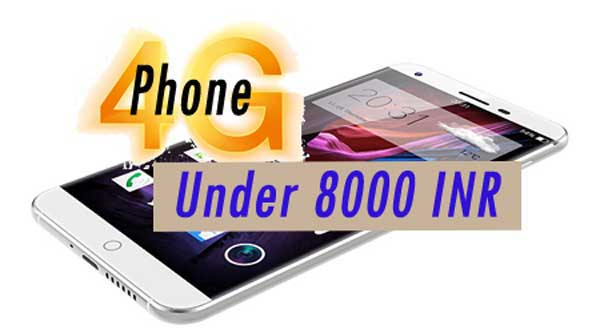 4G Smartphone in India under Rs. 8000